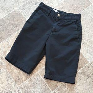 Volcom boy's size 10 black flat front shorts